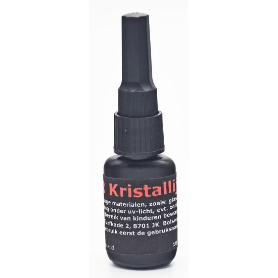 KRISTALLIJM 10 GRAM~Lijmt kristal snel, gemakkelijk en blijvend glashelder.